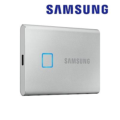 SAMSUNG 三星T7 Touch 2TB USB 3.2 Gen 2移動固態硬碟 時尚銀 (MU-PC2T0S/WW)
