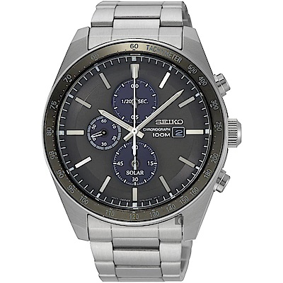 SEIKO 精工Criteria 太陽能計時腕錶(SSC725P1)