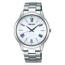 SEIKO 精工SPIRIT 太陽能時尚手錶-銀38.8mm(SBPL007J)