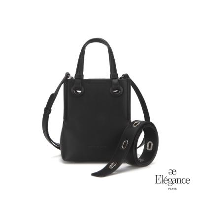 【Elegance】TOURS 2WAY迷你肩背包-黑色