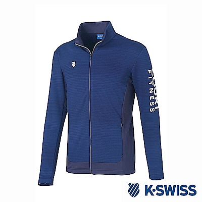 K-Swiss Jersey Jacket韓版運動外套-男-藍