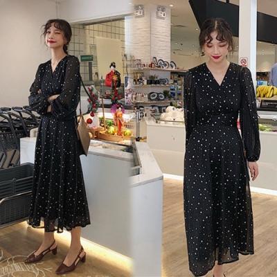 【韓國K.W.】柔美愛戀修身名媛洋裝