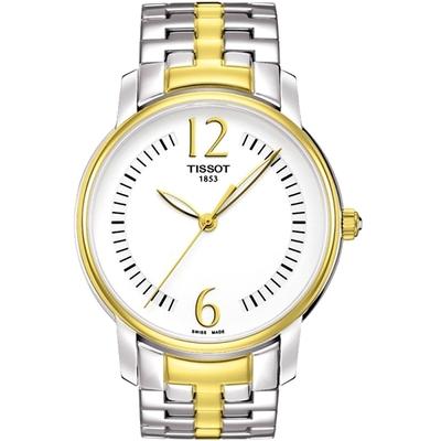 TISSOT T-Trend Lady 都會名媛腕錶-白/半金/38mm T0522102203700