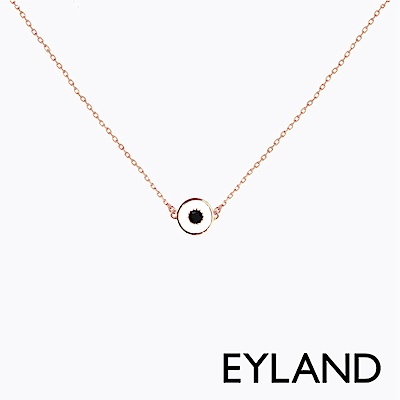 Eyland英國倫敦 GIGI 睛靈玫瑰金水晶吊墜項鍊