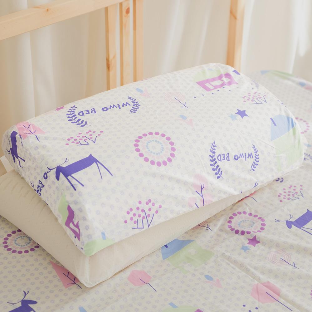 米夢家居-夢想家園系列-工學枕專用100%精梳純棉枕頭布套-白日夢二入
