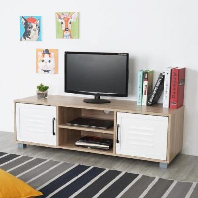 Homelike 瑪莎現代風二門電視櫃-120x39x37cm-DIY
