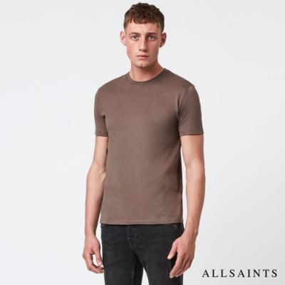 ALLSAINTS BRACE TONIC 公羊頭骨刺繡純棉修身短袖T恤-蘑菇棕