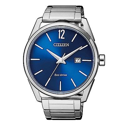 CITIZEN 簡約風格三針光動能時尚腕錶(BM7411-83L)