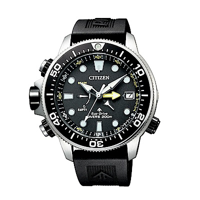 CITIZEN PROMASTER潛水200米光動能橡膠腕錶BN2036-14E
