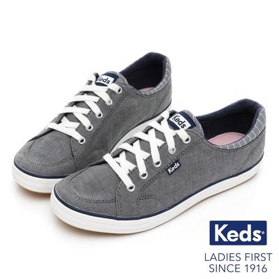 Keds CENTER 舒適中性百搭記憶休閒鞋-灰藍