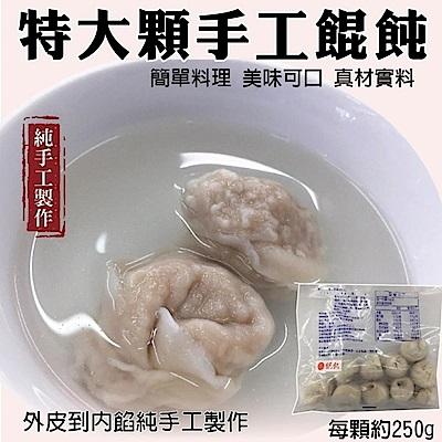 海陸管家手工大顆鮮肉餛飩(每包10顆/共約250g) x12包