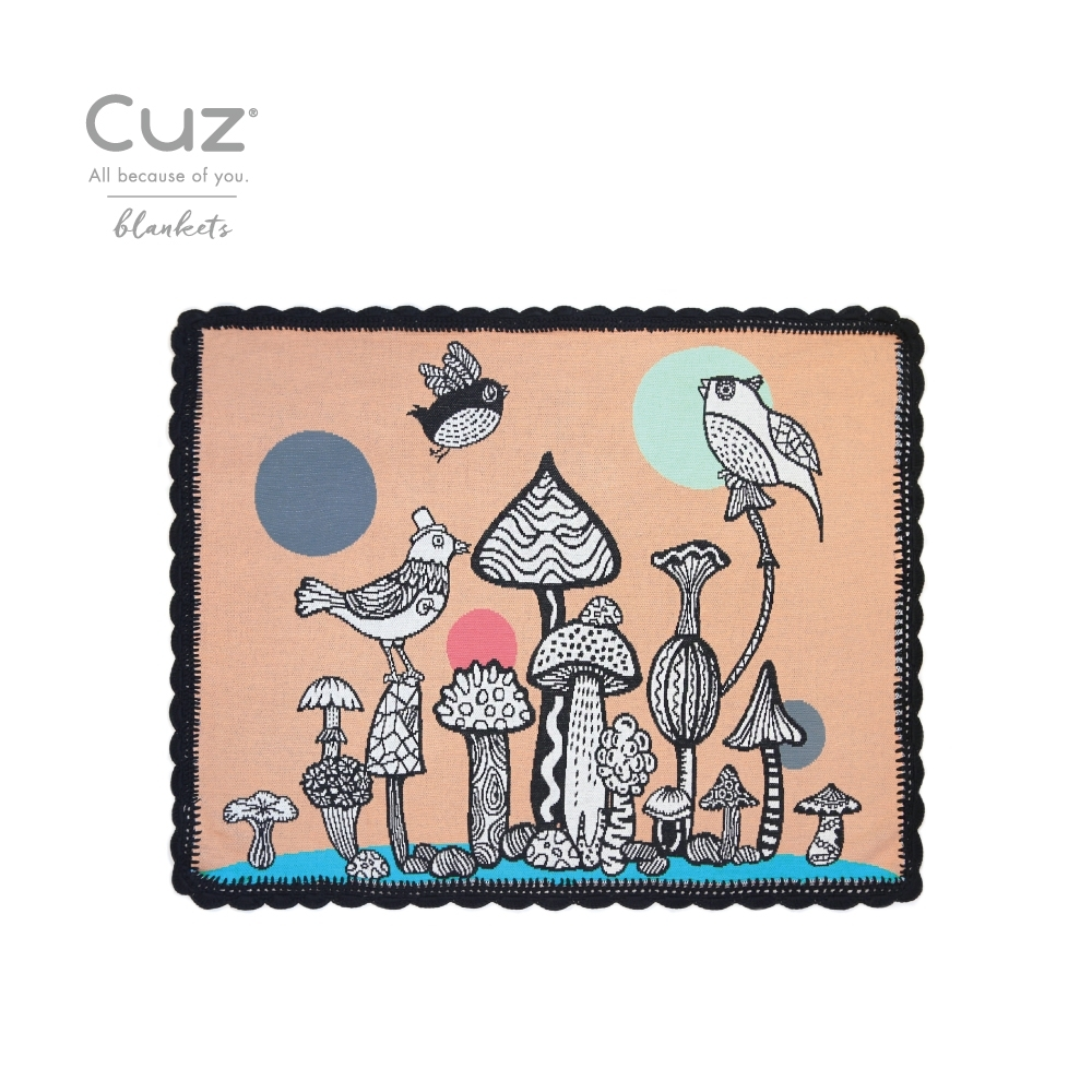 Cuz 波浪滾邊有機棉織毯(多款任選)