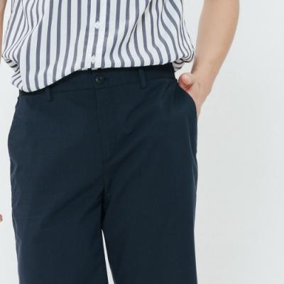 H:CONNECT 韓國品牌 男裝-純色俐落西裝五分褲-藍