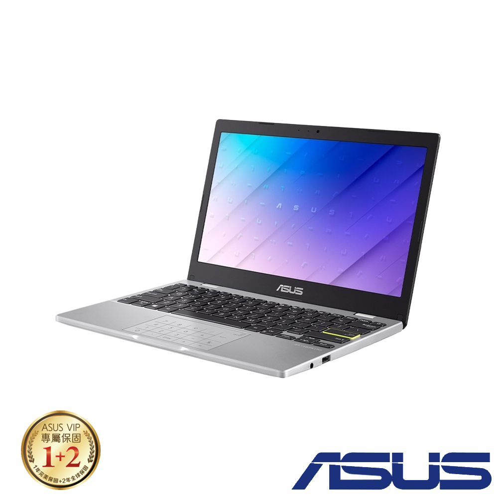 ASUS E210MA 11.6吋筆電 (N4020/4G/64G eMMC/Win10 Home S模式/LapTop/夢幻白)