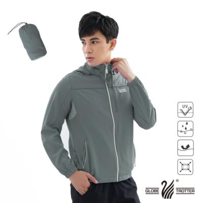 【遊遍天下】中性款反光防曬防風防潑水輕量外套GJ10018灰色(附收納袋)