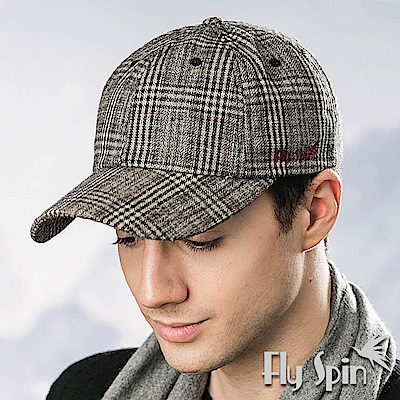 FLYSPIN 男款羊毛呢保暖運動帽