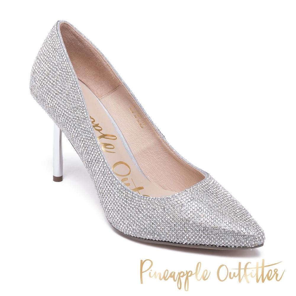 Pineapple Outfitter-GAYORA 經典全鑽尖頭高跟鞋-銀色
