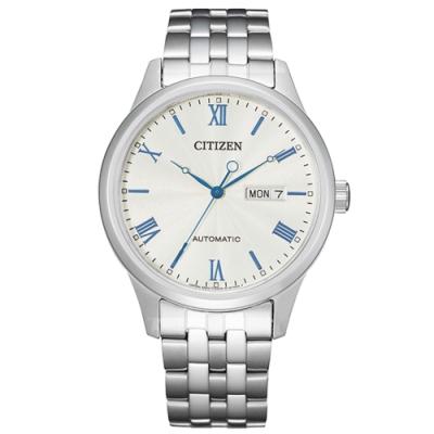 CITIZEN 星辰Mechanical商務機械鏤空藍色指針錶40mm(NH7501-85A)