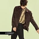 【周慶限量款】H:CONNECT 韓國品牌 男裝-雙口袋麂皮夾克外套-咖啡色