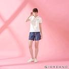 GIORDANO 女裝純棉薄牛仔休閒短褲-71 深藍