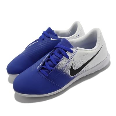 Nike 足球鞋 JR Phantom Venom Club  海外限定 女鞋 大童 支撐包覆 運動 藍 白 AO0400-104