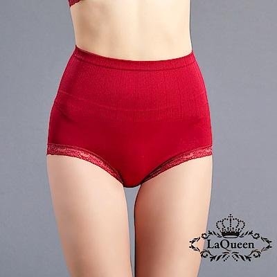 塑褲  一體成型收腹蠶絲塑褲-紅 La Queen