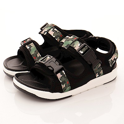 Kinghealth健康童鞋-迷彩運動涼鞋款-NI545綠(中大童段)