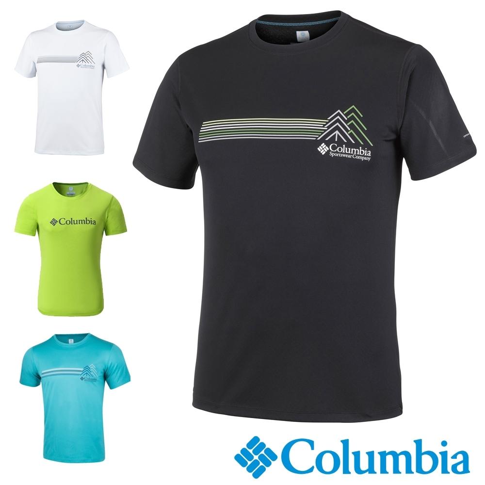 Columbia哥倫比亞 男款-UPF30快排涼感短袖上衣-4色