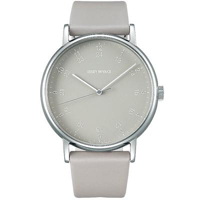 ISSEY MIYAKE 三宅一生 f系列 AM款時尚手錶-灰/39mm