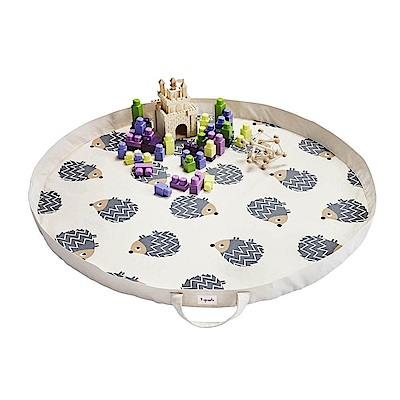 加拿大 3 Sprouts 玩具收納袋-刺蝟 收納包 遊戲墊 野餐墊