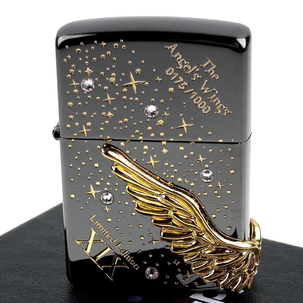 ZIPPO 日系~The Angels Wings-立體天使之翼3面連續加工