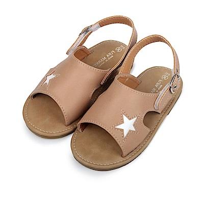 BuyGlasses 可愛小星星兒童涼鞋-奶茶