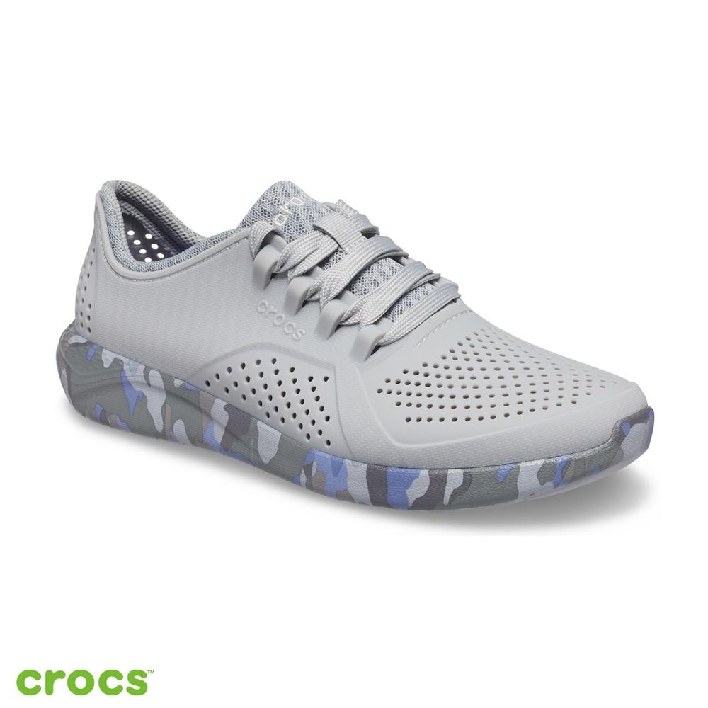 Crocs 卡駱馳 (女鞋) LiteRide迷彩徒步繫帶鞋-206494-0ES