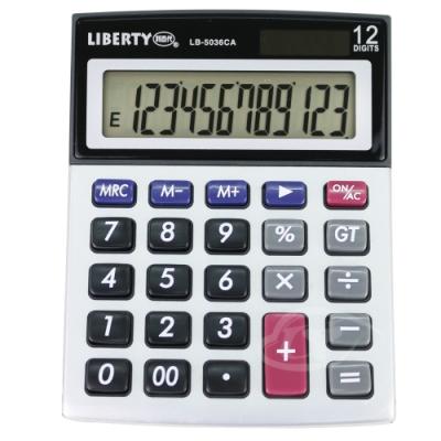 LIBERTY利百代 小巧靈敏-桌上型12位元計算機 LB-5036