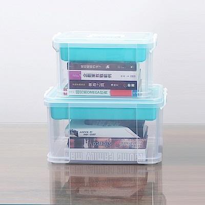 創意達人布蕾蒂入門款手提雙層整理箱(9L+15L)2入組
