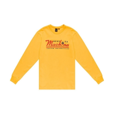 Deus Ex Machina  Bolting Ls Tee T恤-黃(男/女)