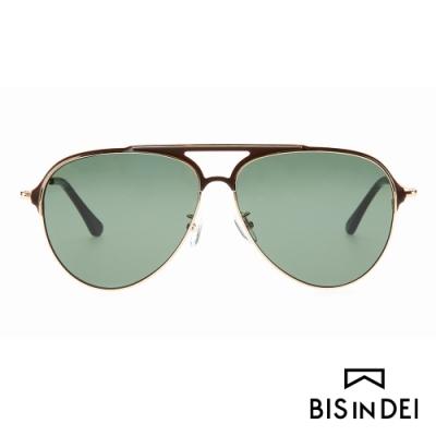 BIS IN DEI 美式飛行框太陽眼鏡-棕