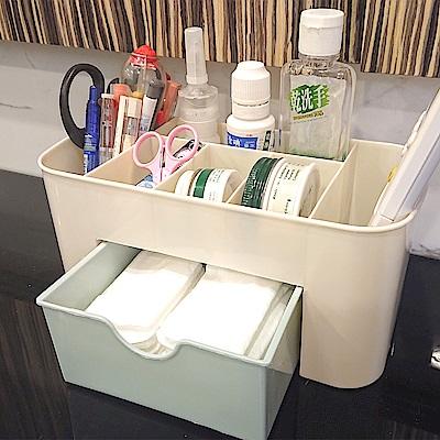 樂嫚妮 多格桌面收納盒/辦公/抽屜/化妝品/首飾收納-3入