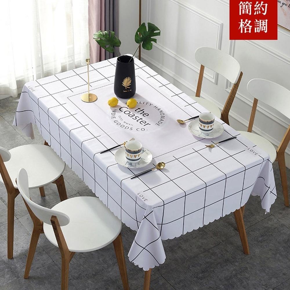【QHL 酷奇】北歐抗汙防水創意桌巾-90*137(餐桌巾)