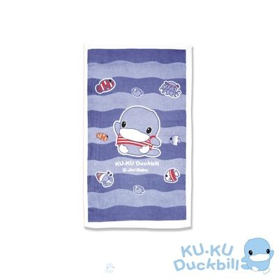 KUKU酷咕鴨 兒童長浴巾(藍/粉)