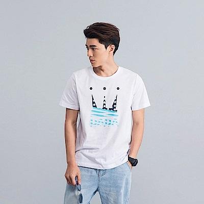 DADA SUPREME 美國國旗LOGO T-shirt-男-晴空白