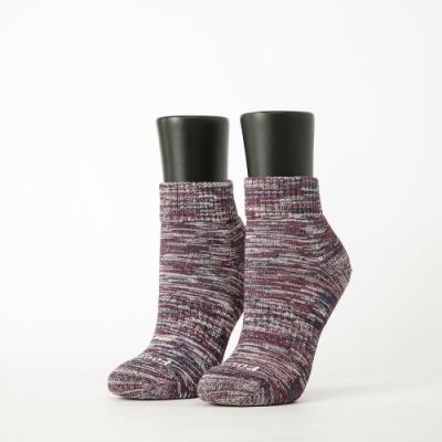 Footer除臭襪-混色潮流氣墊襪-六雙入(亮紅*2+暗紅*2+水藍*2)