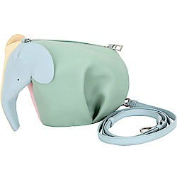 LOEWE Elephant Rainbow 多彩撞色小牛皮手拿/斜背大象包