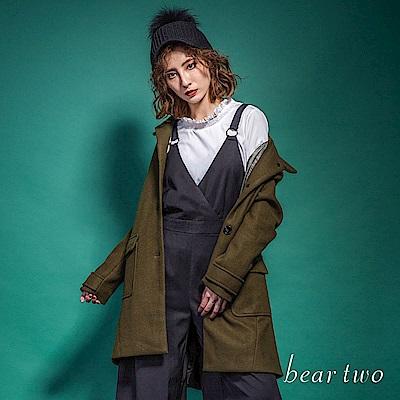 beartwo 經典羊毛混紡大衣外套(二色)