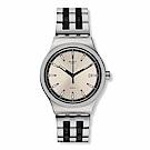 Swatch 51號星球機械錶 SISTEM SILVERLINE 銀炫時尚手錶