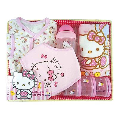 【麗嬰房】三麗鷗系列-HELLO KITTY(凱蒂貓)彌月禮盒組