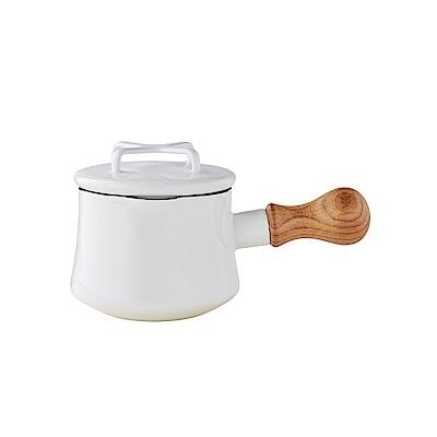 DANSK 迷你造型琺瑯鍋550ml 白色(附鍋蓋)
