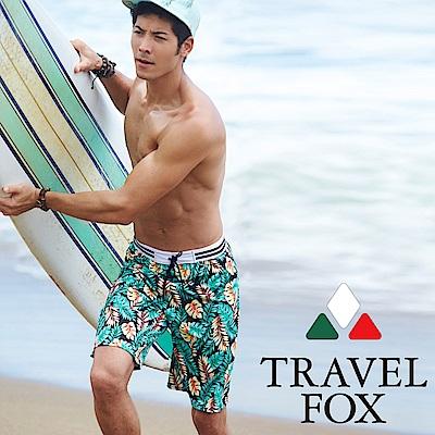夏之戀TRAVEL FOX  大男寬口七分泳褲