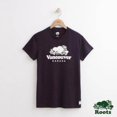 女裝Roots-溫哥華城市短袖T恤-紫色