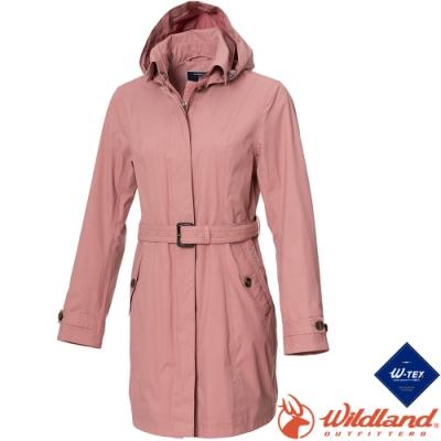 Wildland 荒野 0A72909-28珍珠粉 女長版防水防風時尚外套